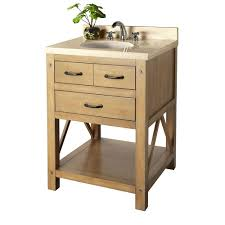 home decorators collection avondale 25 in vanity in weathered pine with marble vanity top in