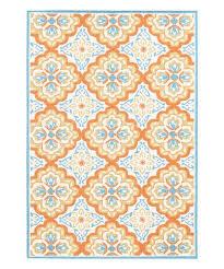 amer rugs orange blue quatrefoil