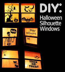 love halloween window decor: halloween window silhouettes takes around  hours and less than  dollars to