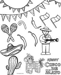 Enjoy these printable fiesta coloring pages, including mexican culture coloring sheets, cinco de mayo pictures to color, day of the dead coloring. Printable Cinco De Mayo Coloring Pages For Kids