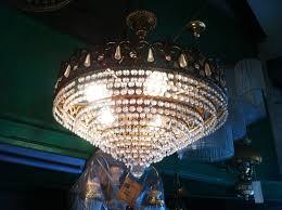 vintage austrian swarovski crystal chandelier 1980s
