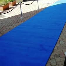 6m royal blue carpet runner