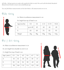Baby Size Chart Template Sizeguide 24