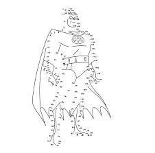 Kleurennu Puntjes Verbinden Batman Kleurplaten