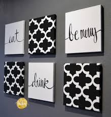 on black white wall art deco with black and white moroccan 6 pack wall art