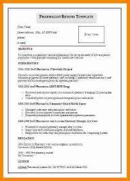 Pharmacist Resume Template Interesting 48 Cv Sample For Pharmacist Theorynpractice