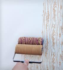 Patterned Paint Roller Designs Unique Decorating Design