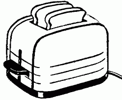 toaster clipart black and white. pin toast clipart black and white #12 toaster o