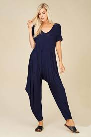 Gozon Size Chart Sofia Harem Jumpsuits Navy In 2019 Jump Into Jumpsuits