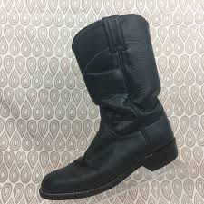 justin boots women s sz 5 5 b navy blue leather cowboy cowgirl western s278 1 of 11only 1 available
