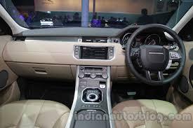land rover evoque 2014 interior. range rover evoque 9speed dashboard at auto expo 2014 land interior e