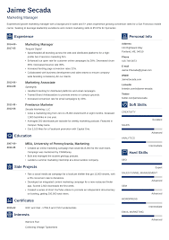 Modern Marketing Resume Marketing Resume Sample Complete Guide 20 Examples