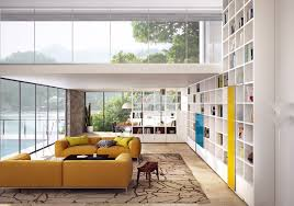 Yellow And White Living Room Designs White Living Room Interior Design With Yellow Sofa Furniture And
