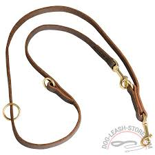 adjustable leather dog leash length