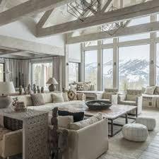 Image Relaxing Mountain Style Formal And Open Concept Light Wood Floor And Gray Floor Living Room Photo In Houzz Zen Living Room Ideas Photos Houzz