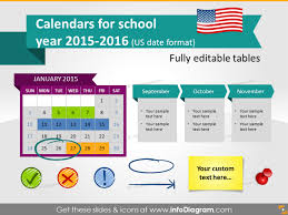 Ppt Calendar 2015 School Calendars 2015 2016 Graphics Us Date Format Ppt