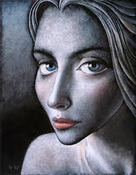 painting painting blue eyes by ilir pojani
