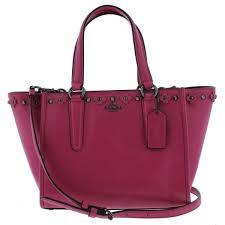 Coach Womens Dahlia Satchel Handbag Leather Studded - MEDIUM