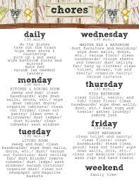 Daily Weekly Monthly Chores Weekly Chores Under Fontanacountryinn Com