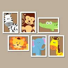 safari animal growth chart wall art vinyl