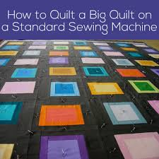 Video - How to Machine Quilt a Big Quilt on a Standard Sewing ... & How to Quilt a Big Quilt on a Standard Sewing Machine - video Adamdwight.com