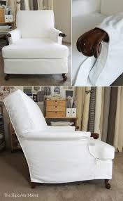 slip covers chair. Chair Slipcover Accents Wood Detail Slip Covers