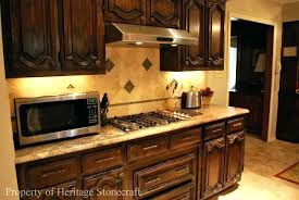 how to stain cabinets darker post staining kitchen cabinets darker before and after pictures