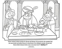 Small Picture Esther Dinner Party Bible Coloring Pages Whats in the Bible