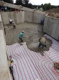 pictures of the house floor being poured