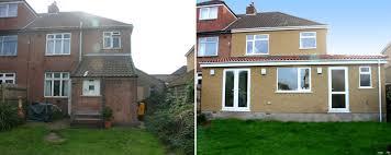 Affordable building plans  home designs  extension design    Single storey side  amp  rear extension