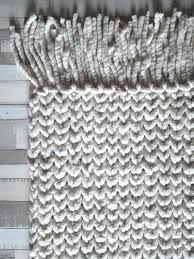 black and white woven area rug braided wool super thick reversible