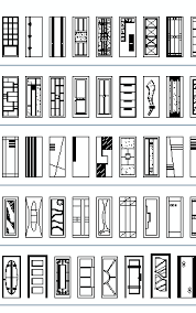 doors elevation cad blocks