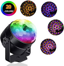Spinning Colored Light Ball Reching Party Lights Sound Activated Build In 20 Colors Christmas Magic Rotating Disco Light Disco Ball Lamps 6w Led Stage Lighting For Ktv Xmas