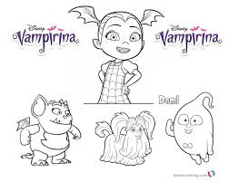 Vampirina Coloring Pages Vampirina And Cute Characters Free
