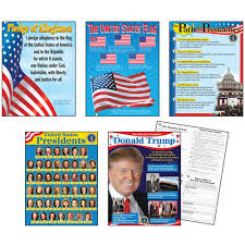 Us Presidents Chart U S Presidents Learning Charts Combo Pack