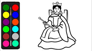 Pypus is now on the social networks, follow him and get latest free coloring pages and much more. Queen Coloring Pages For Kids Queen Drawings Of Girls Queen Coloring Book For Me Kids Youtube