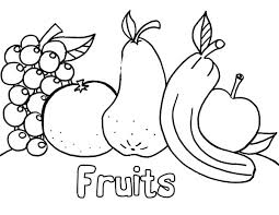 Fruits Coloring Pages Coloring Sheets Detail Printable Fruits And
