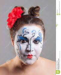 woman with circus makeup