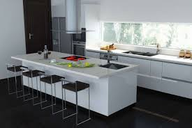 Plain White Kitchen Cabinets Decorations Stylish Rectangle White Laminated Modern Kitchen
