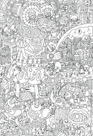 Hard Halloween Coloring Pages To Print - Eliolera.com