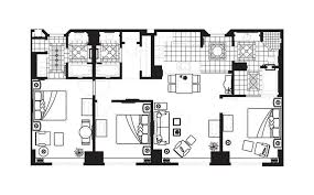 Three Bedroom Floor Plan At Hilton Grand Vacations On Paradise In Las Vegas,  Nevada
