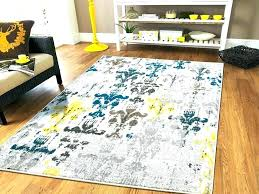 gray accent rug wonderful yellow large
