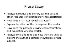 response essays prose passage generally one page excerpt from a 3 prose essay