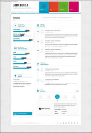 One A Free One Page Web Resume Template Resume Template Features