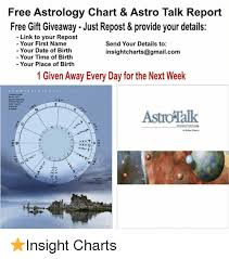 Free Astrology Chart Astro Talk Report Free Gift Giveaway