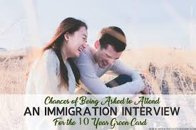 chance of interview for 10 year green card