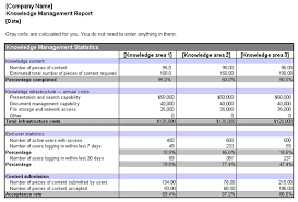 Download Knowledge Management Report Related Excel Templates For