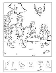 Small Picture Good Samaritan 9 other Bible story hidden puzzles coloring