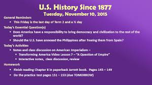 u s history since wednesday general 7 u s history since 1877