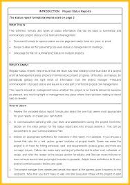 Weekly Update Email Template Project Report Example Status 6